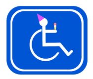 Handicap birthday sign Royalty Free Stock Photography