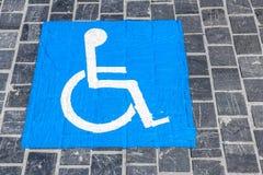 Handicap di simbolo Immagine Stock
