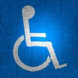 Handicap di simbolo Fotografia Stock Libera da Diritti