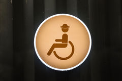 Handicap or Disabled toilet sign Stock Photo