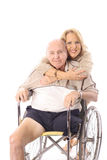 Handicap hugs. Shot of family handicap hugs Stock Photos