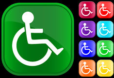 Handicap icon. On shiny buttons Royalty Free Illustration
