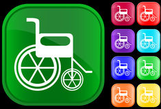 Handicap icon. On shiny buttons Royalty Free Stock Photos