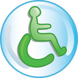 Handicap icon Royalty Free Stock Images