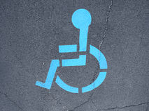 Handicap icon on road Royalty Free Stock Photo