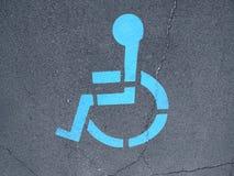Handicap icon on road Royalty Free Stock Photo