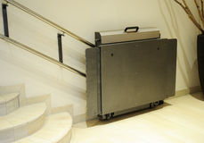 Handicap lift, elevator for invalid wheelchair Stock Photo