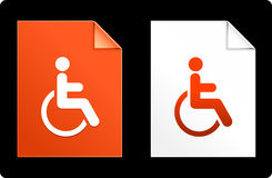 Handicap on Paper Set Royalty Free Stock Image