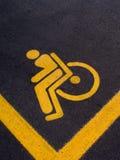 HANDICAP PARK SIGN. Handicap parking sign on asphalt Stock Photography