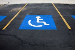 Handicap Parking. Space in perspective Stock Images