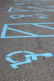 Handicap Parking Stock Photo