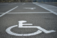 Handicap parking. Useful to indicate handicap related messages Royalty Free Stock Images