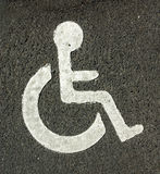 Handicap parking. Sign on the road Royalty Free Stock Photography