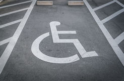 .Handicap parking Royalty Free Stock Images