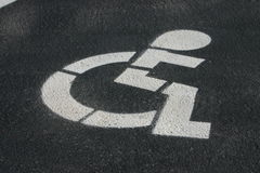 Handicap Parking. Space sign symbol on ground royalty free stock photos