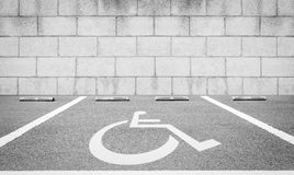 Handicap parking areas reserved Royalty Free Stock Image