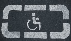 Handicap parking areas reserved for disabled people. Horizontal background Stock Images