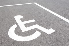 Handicap parking Royalty Free Stock Photos