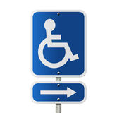 Handicap Parking Direction Sign Stock Image