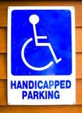 Handicap parking old sign Stock Photo