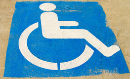Handicap Parking Royalty Free Stock Photography