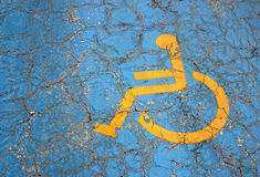 Handicap parking place Royalty Free Stock Image