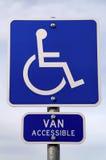 Handicap Parking Sign. Sign in parking lot for handicap parking Stock Photo
