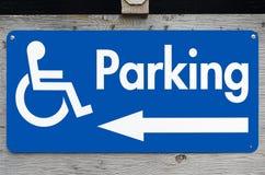 Handicap Parking Sign. Rural handicap parking sign Royalty Free Stock Photo