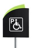Handicap Parking Sign. Over white Stock Photos