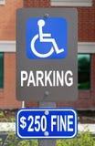 Handicap parking sign Royalty Free Stock Image