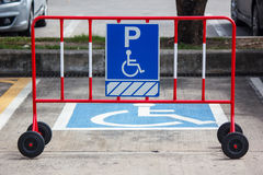 Handicap parking sign Stock Images