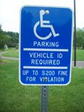 Handicap Parking Sign. At the park Stock Image
