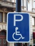 Handicap parking sign Stock Photography