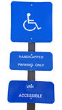 Handicap Parking Signs Royalty Free Stock Photos
