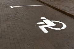 Handicap parking slot. Royalty Free Stock Photo