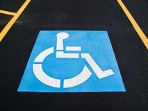 Free Handicap Parking Space Stock Photography - 12349692