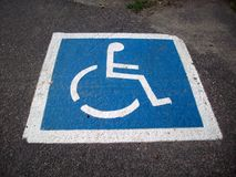 Handicap Parking Space Stock Photography