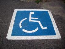 Handicap Parking Space Stock Photography