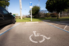 Handicap Parking Spot royalty free stock photography