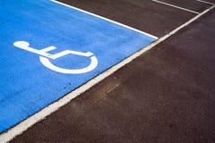 Handicap parking spot. Diagonal composition of handicap parking spot in Nivelless, Belgium Stock Images