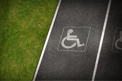 Handicap Parking Spot Royalty Free Stock Photo