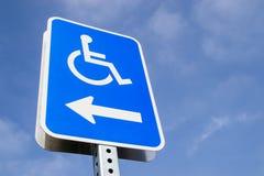 Handicap parking. The handicap parking street sign Stock Images