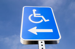 Handicap parking Stock Photos