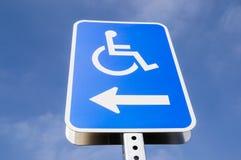 Handicap parking. The handicap parking street sign Stock Photos