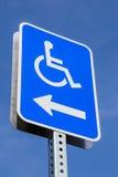 Handicap parking. The handicap parking street sign Royalty Free Stock Image