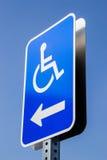 Handicap parking. The handicap parking street sign Stock Photography