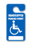 Handicap parking tag Royalty Free Stock Photography