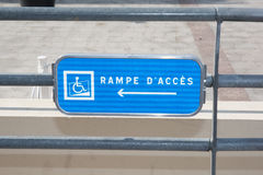 Handicap parking or wheelchair acess space sign -  Royalty Free Stock Photos