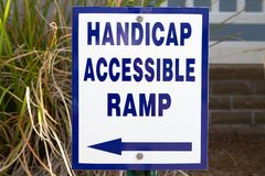 Handicap Ramp Sign Royalty Free Stock Images
