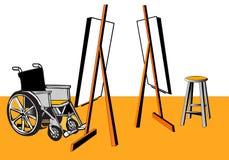 Handicap and relationship vector illustration